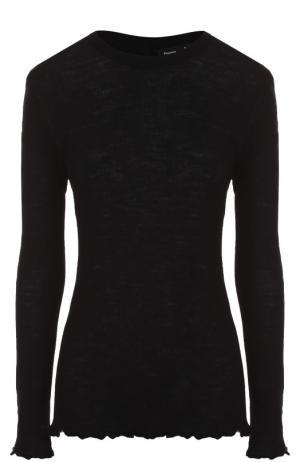 Облегающий пуловер фактурной вязки Proenza Schouler. Цвет: черный