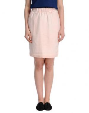 Юбка до колена WHITE TENT. Цвет: розовый