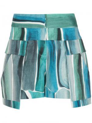 Printed shorts Giuliana Romanno. Цвет: синий