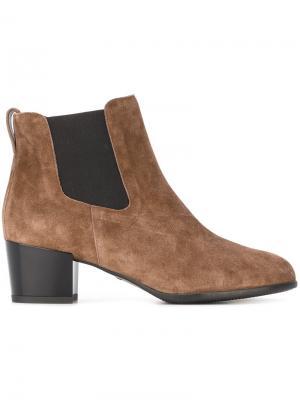 Ботинки по щиколотку Hogan. Цвет: коричневый