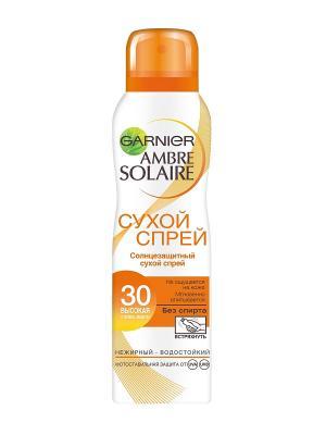 Ambre Solaire Сухой солнцезащитный спрей для тела, светлой уже загорелой кожи, SPF 30, 200 мл Garnier. Цвет: оранжевый