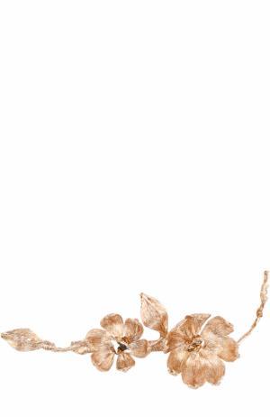 Заколка с цветочным декором Colette Malouf. Цвет: золотой