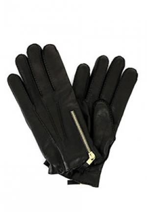 Перчатки ALEXANDER McQUEEN. Цвет: черный