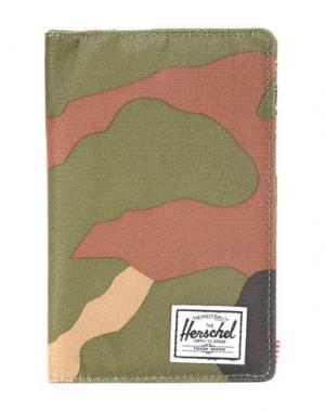 Чехол для документов HERSCHEL SUPPLY CO.. Цвет: зеленый-милитари