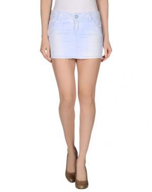 Джинсовая юбка JFOUR. Цвет: небесно-голубой