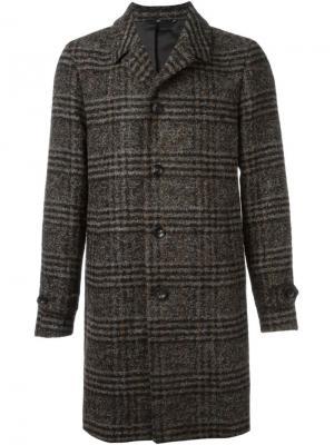 Однобортное пальто в клетку Hevo. Цвет: многоцветный