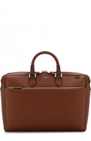 Кожаная сумка для ноутбука с плечевым ремнем Serapian. Цвет: светло-коричневый