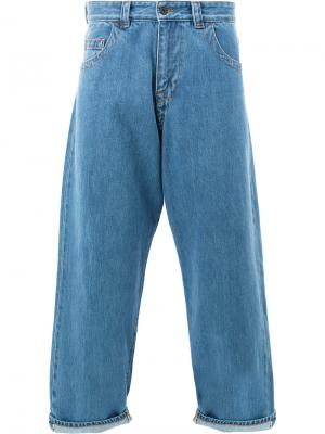 Укороченные широкие брюки с Craig Green. Цвет: синий