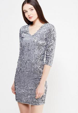 Платье Dorothy Perkins. Цвет: серебряный