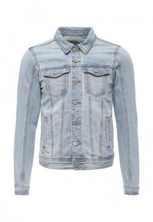 Куртка джинсовая Alcott. Цвет: голубой