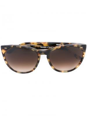 Солнцезащитные очки Swappy Thierry Lasry. Цвет: телесный