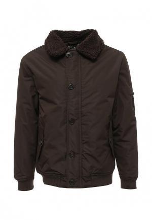 Куртка утепленная Soulstar. Цвет: коричневый