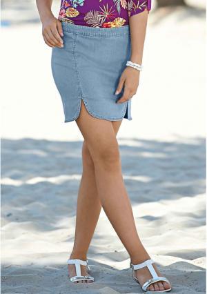 Джинсовая юбка Y.O.U.. Цвет: синий варенка