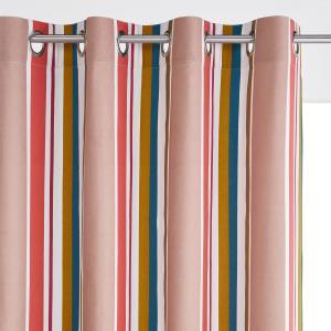 Штора в полоску, 100% хлопок, с люверсами, Gaillac La Redoute Interieurs. Цвет: в полоску розовый/синий/желтый