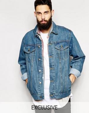 Reclaimed Vintage Джинсовая куртка в стиле oversize Inspired. Цвет: синий