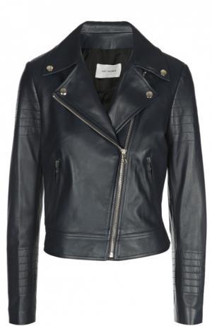 Кожаная куртка Yves Salomon. Цвет: темно-синий