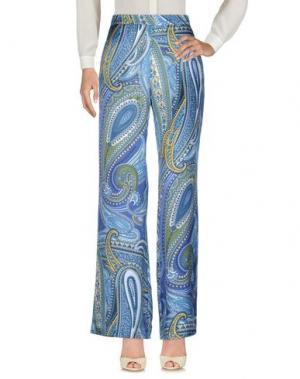 Повседневные брюки PINK MEMORIES. Цвет: пастельно-синий