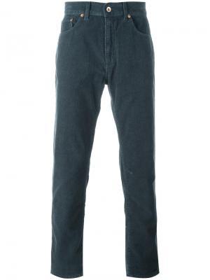 Прямые вельветовые брюки Bellerose. Цвет: серый