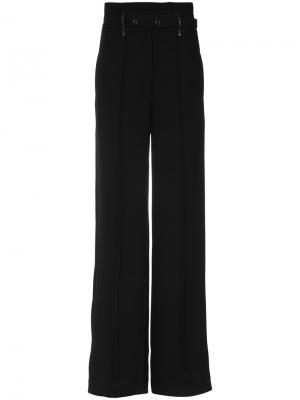 Asymmetric waistband trousers Gloria Coelho. Цвет: чёрный