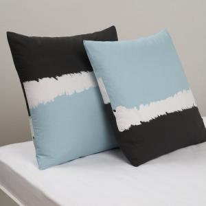 Наволочка квадратная Paint La Redoute Interieurs. Цвет: синий/оранжевый/белый