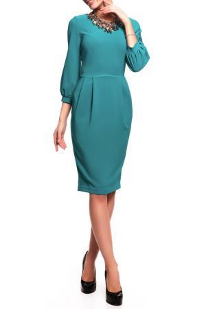 Платье Disetta. Цвет: темно-бирюзовый