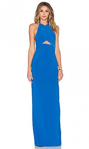Макси платье keaton SOLACE London. Цвет: синий