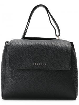 Square shoulder bag Orciani. Цвет: чёрный