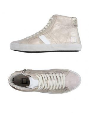 Высокие кеды и кроссовки D.A.T.E. KIDS. Цвет: золотистый