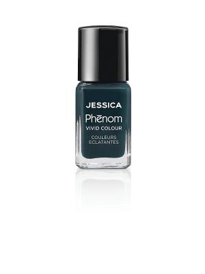 Phenom Цветное покрытие Vivid Colour Starry Night № 09, 15 мл JESSICA. Цвет: темно-зеленый