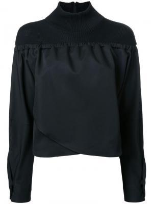 Блузка с высоким воротом Taro Horiuchi. Цвет: чёрный