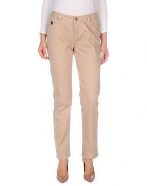 Джинсовые брюки DUCK FARM. Цвет: песочный