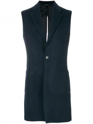 Пиджак без рукавов Lc23. Цвет: синий