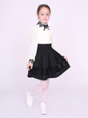 Блузка nasha. Цвет: черный, молочный