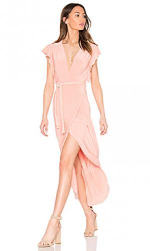 Платье irina MISA Los Angeles. Цвет: розовый