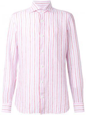 Рубашка в полоску Borrelli. Цвет: многоцветный