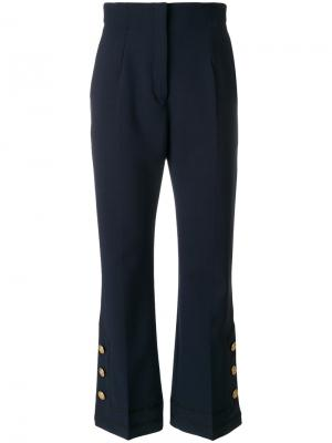 Укороченные брюки Alberta Ferretti. Цвет: синий