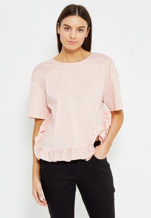 Блуза LOST INK. Цвет: розовый