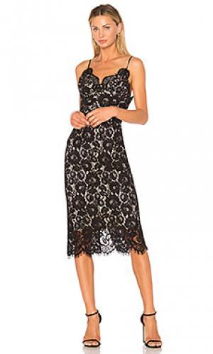 Платье-комбинация ingenue Lover. Цвет: черный