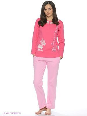 Пижама ROLY POLY. Цвет: лиловый, бледно-розовый