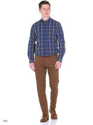 Рубашка Boston Brothers. Цвет: коричневый, синий, серый