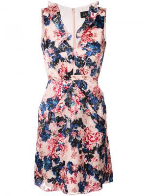 Платье с цветочным рисунком Tigerlily Saloni. Цвет: розовый и фиолетовый