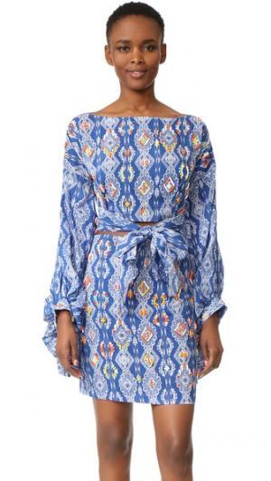 Платье Jamila с All Things Mochi. Цвет: синий мульти