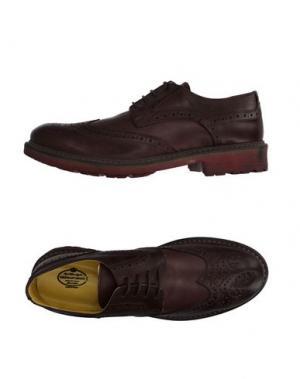 Обувь на шнурках HERMAN & SONS. Цвет: темно-коричневый