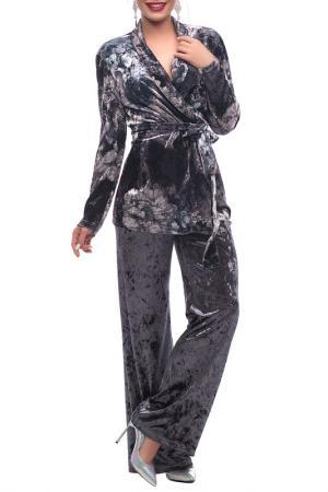 Костюм: жакет и брюки Петербургский Швейный Дом. Цвет: серый