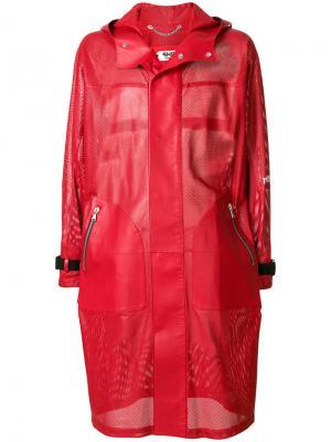 Пальто с перфорацией Pihakapi. Цвет: красный