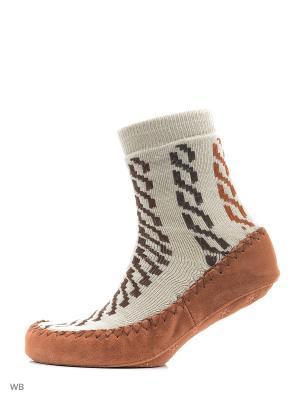 Носки-тапочки BROSS. Цвет: бежевый