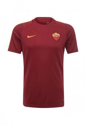 Футболка спортивная Nike. Цвет: бордовый