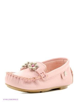 Мокасины Bibi. Цвет: бледно-розовый