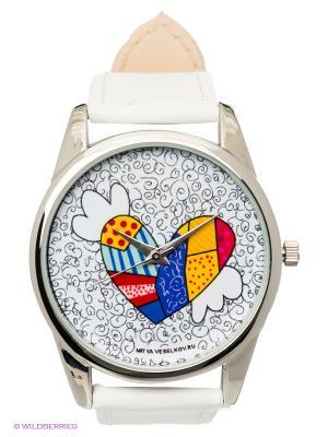 Часы Mitya Veselkov Крылатое сердце. Цвет: белый