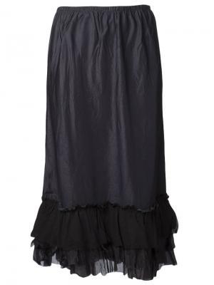 Длинная гофрированная юбка Dosa. Цвет: чёрный
